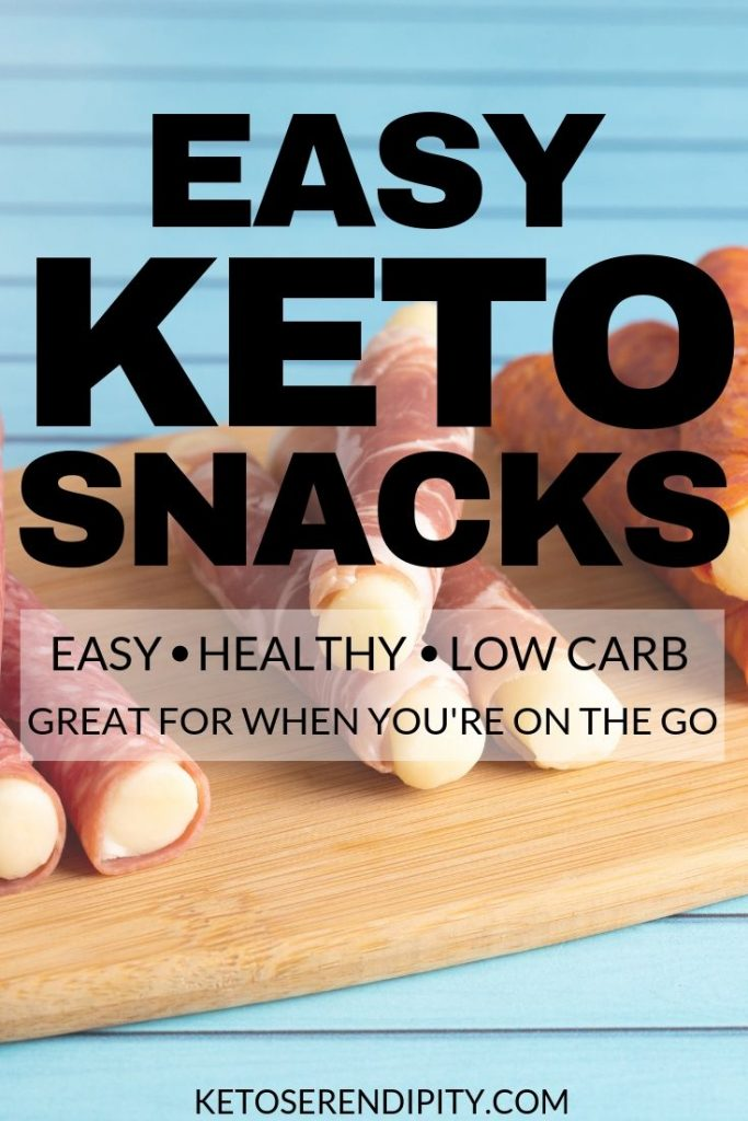 Keeping a stash of low-carb, easy keto snacks around can help when the snack monster strikes! Avoid the temptation of the vending machine and grab a healthy snack that will help you lose weight instead.